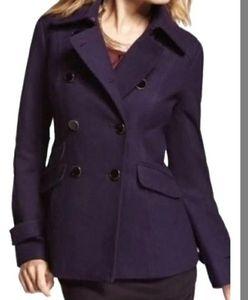 Express Wool Blend Peacoat Deep Purple Size Small